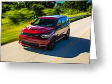 Dodge Durango Srt 2018 Greeting Card