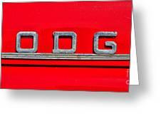 Dodge Greeting Card