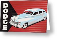 Dodge Showroom Poster Greeting Card