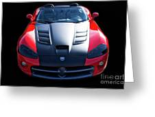 Dodge Viper Roadster Greeting Card