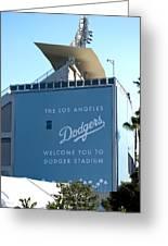 Dodger Stadium Greeting Card by Malania Hammer