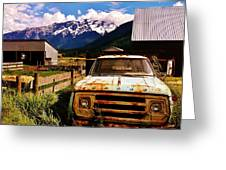 Dodging Mount Currie Greeting Card