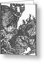 Doe And Weasel Greeting Card