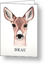 Doe Deer Greeting Card