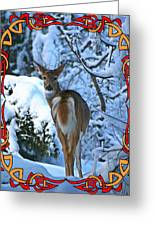 Doe In The Snow Greeting Card