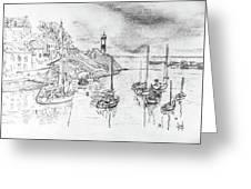 Doellan Sur Mer, Le Port Greeting Card