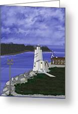 Dofflemeyer Point Lighthouse At Boston Harbor Greeting Card
