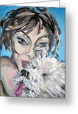 Dog And Diva Greeting Card