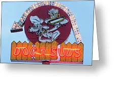 Dog And Suds Greeting Card