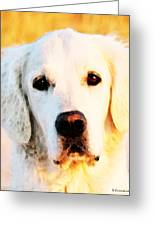 Dog Art - Golden Moments Greeting Card