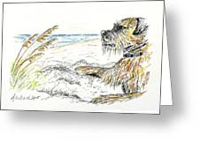 Dog By The Sea Greeting Card