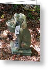 Dog Garden Statues Greeting Card