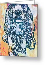 Dog Pop Etching Art Poster Greeting Card