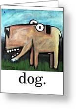 Dog Poster Greeting Card