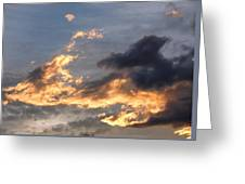 Dog Race Cloudscape 1 Greeting Card