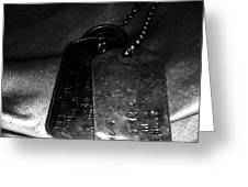 Dog Tags In Black And White Greeting Card