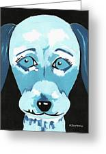 Doggie Blues Greeting Card