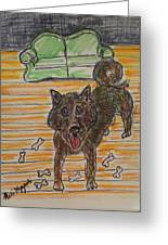 Doggy Snack Time Greeting Card