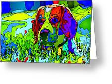 Dogs Can See In Color Greeting Card