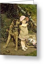 Dog's Company Greeting Card by Edgard Farasyn