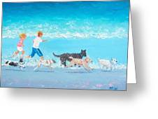 Dogs Day Out Greeting Card