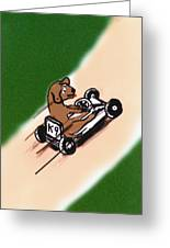 Dogs Don't Ride Go Carts Greeting Card