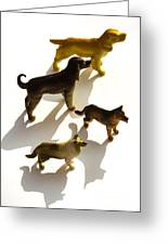 Dogs Figurines Greeting Card
