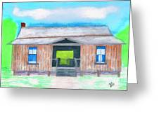 Dogtrot Cracker Home Drawing Greeting Card