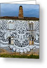 Doily House Greeting Card