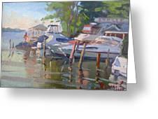 Docks At The Shores  Greeting Card