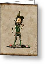 Doldhor - Leprechaun Painting  Greeting Card