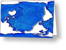 Dolphin World Map Greeting Card