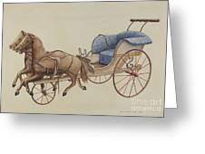 Doll Carriage Greeting Card