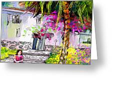 Doll House In Turre Greeting Card