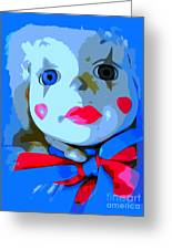 Doll In Blue Greeting Card