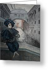 Doll In Venice Greeting Card