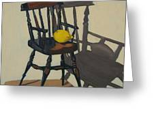 Doll's Chair With Lemon Greeting Card