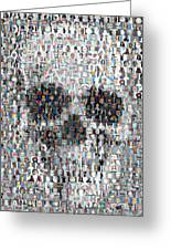 Dolls Skull Mosaic Greeting Card