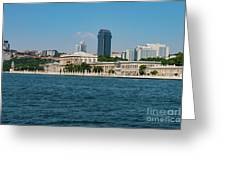 Dolmabahce Palace On The Bosphorus Greeting Card
