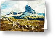 Dolomites, Monte Piana, Italy Greeting Card