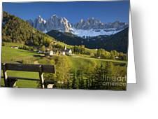 Dolomites View Greeting Card