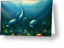 Dolphin Euphoria Greeting Card