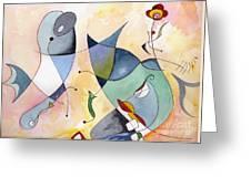 Dolphin Garden Greeting Card