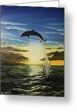 Dolphin Jump Greeting Card
