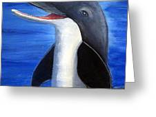 Dolphin Laughing Greeting Card