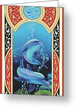 Dolphin Mecca Greeting Card