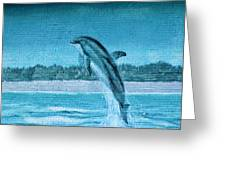 Dolphin Mural Greeting Card