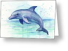 Dolphin Watercolor Greeting Card