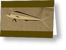 Dolphinfish In Sepia Tones Greeting Card