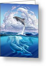 Dolphonic Symphony Greeting Card